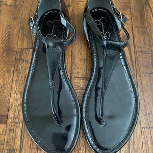 Little Worn Jessica Simpson black size 10 sandals
